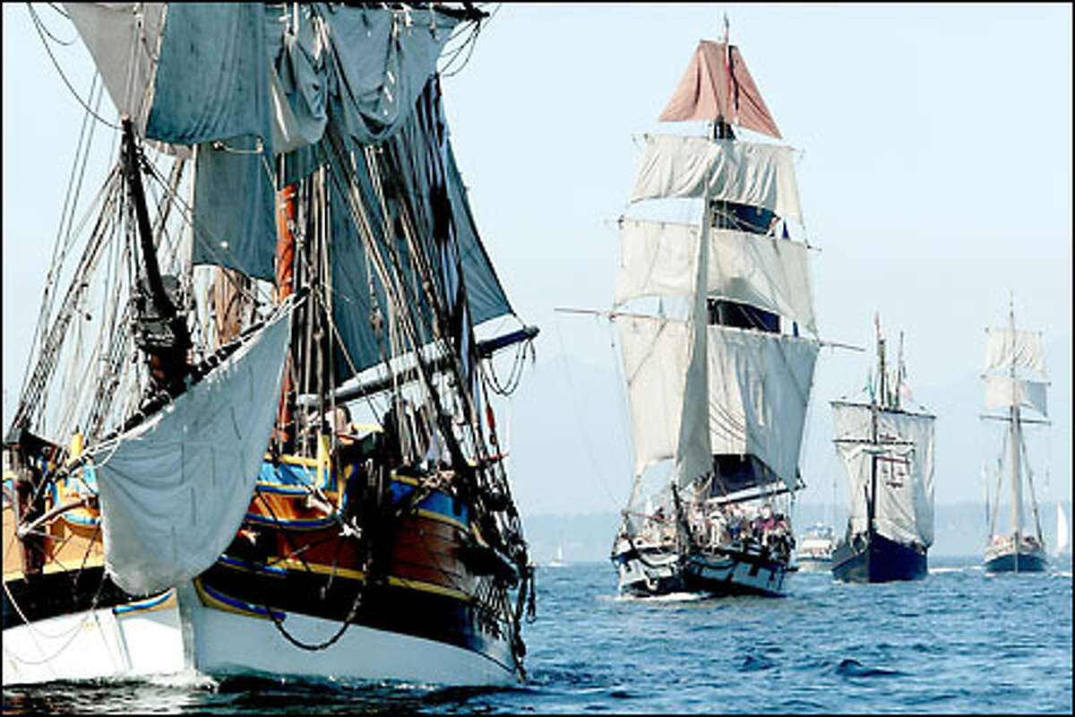 The Lady Washington, Hawaiian Chieftain and the Nina are all part of the Tall Ships Challenge.