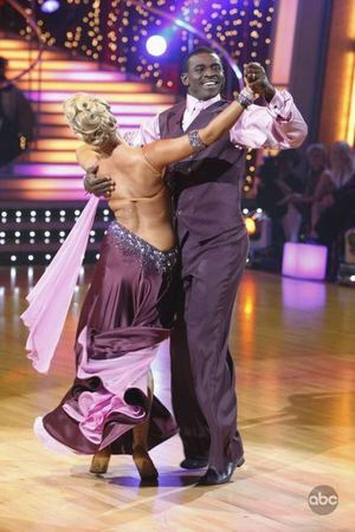 Professional dancer Anna Demidova and former pro football player Michael Irvin.