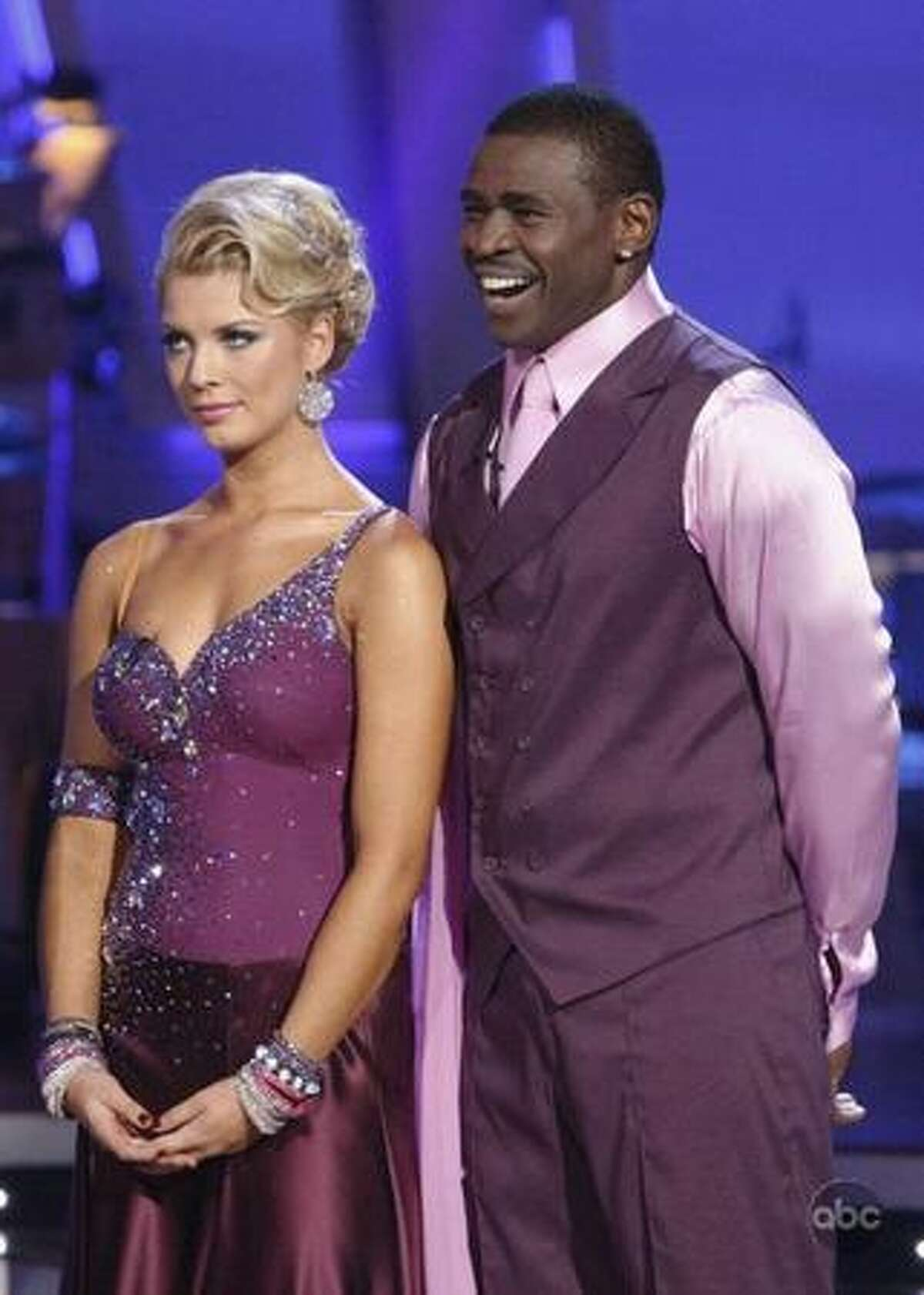 Professional dancer Anna Demidova and former pro football player Michael Irvin.