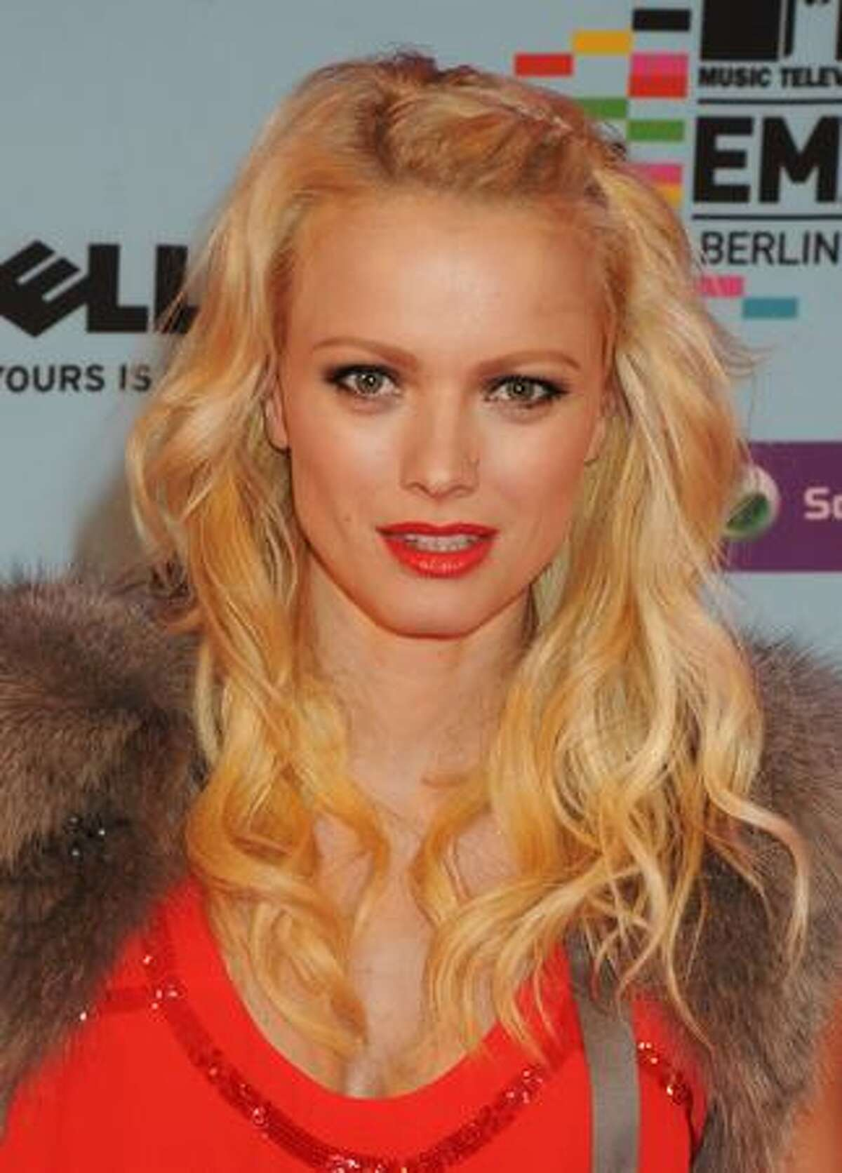 Model Franziska Knuppe arrives for the 2009 MTV Europe Music Awards held at the O2 Arena in Berlin, Germany.