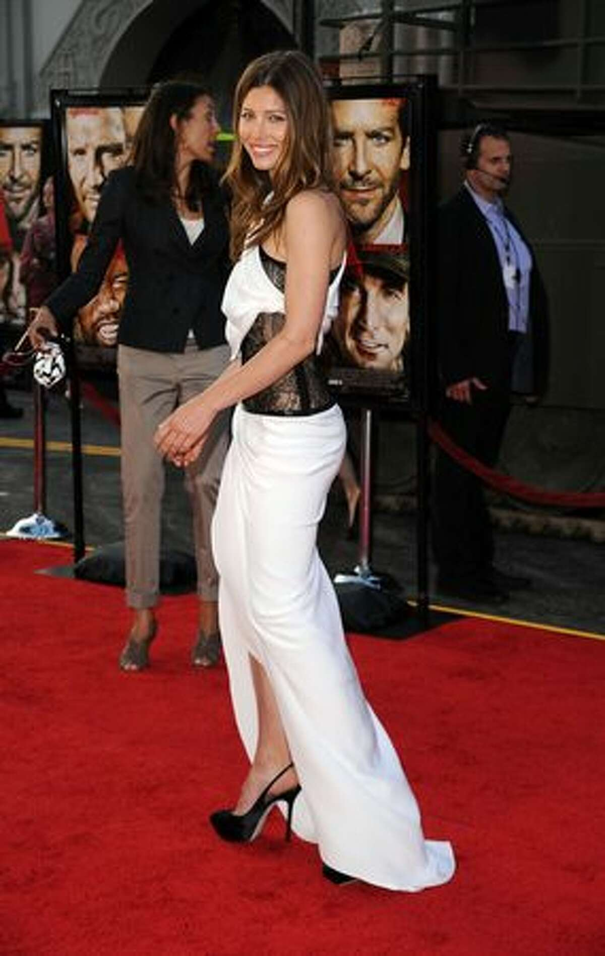 Actress Jessica Biel arrives at the premiere of 20th Century Fox's