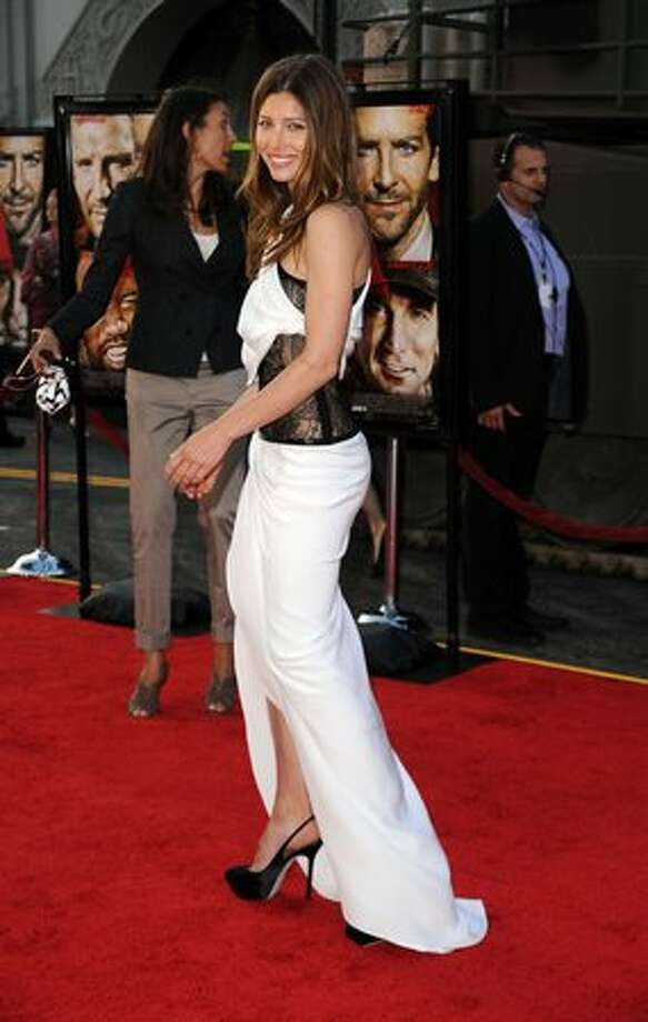 "Actress Jessica Biel arrives at the premiere of 20th Century Fox's ""The A-Team"" held at Grauman's Chinese Theatre. Photo: Getty Images"