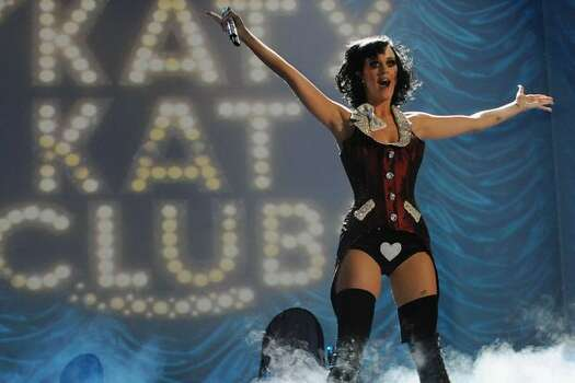 Katy Perry performs during the 2009 MTV Europe Music Awards held at the O2 Arena in Berlin, Germany. Photo: Getty Images