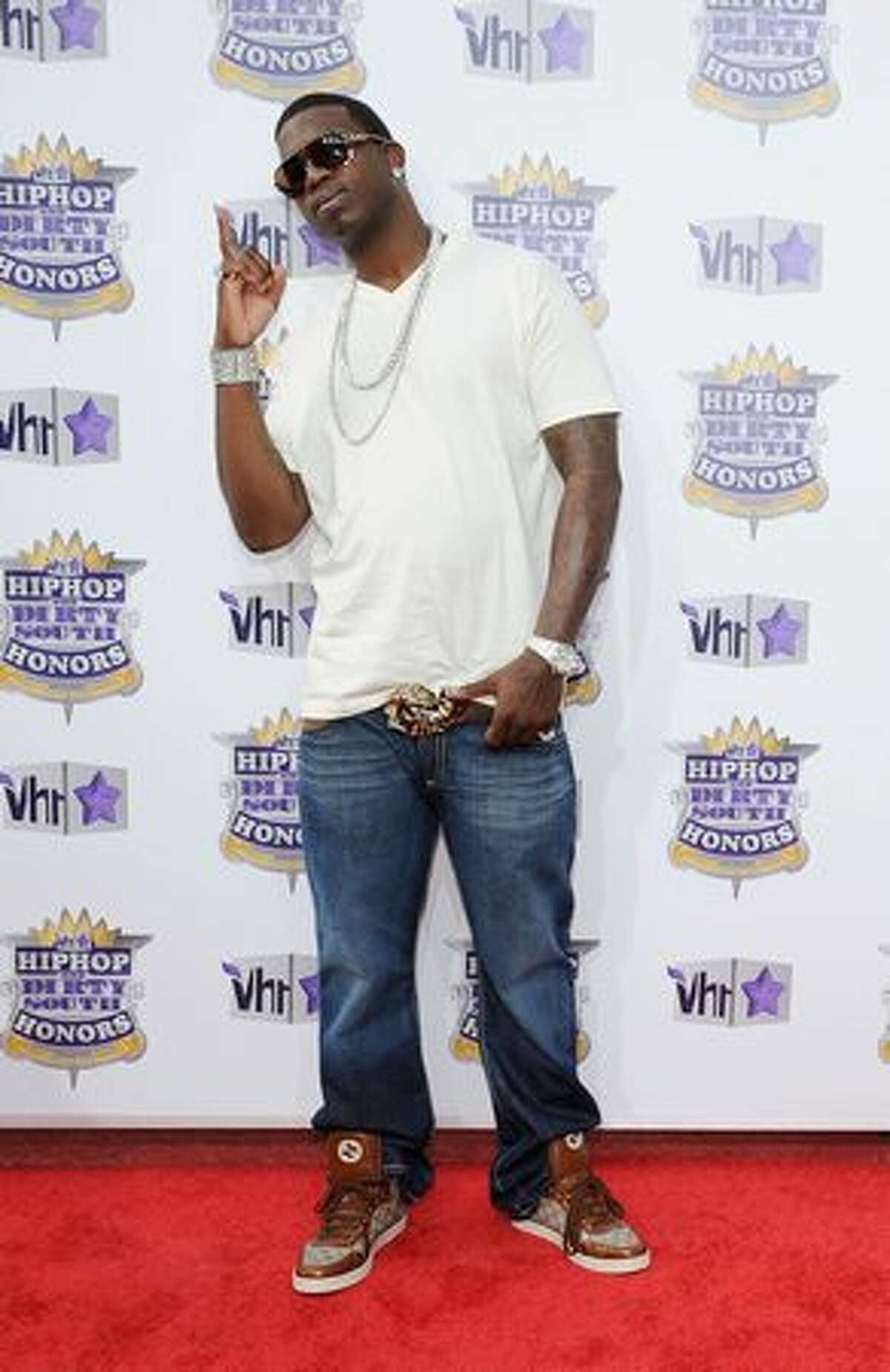 Rapper Gucci Mane attends 2010 VH1 Hip Hop Honors at Hammerstein Ballroom.