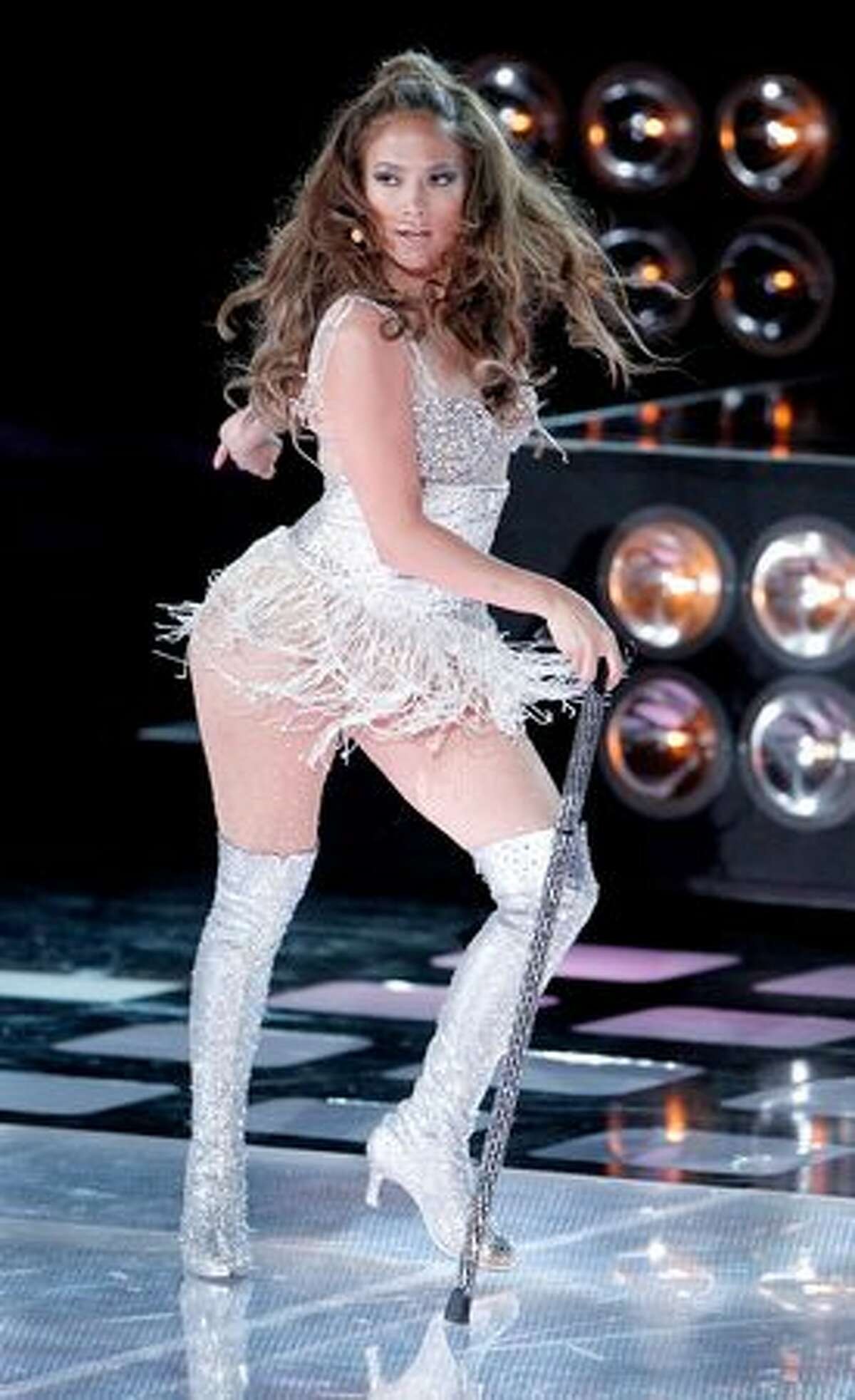 Jennifer Lopez performs onstage.