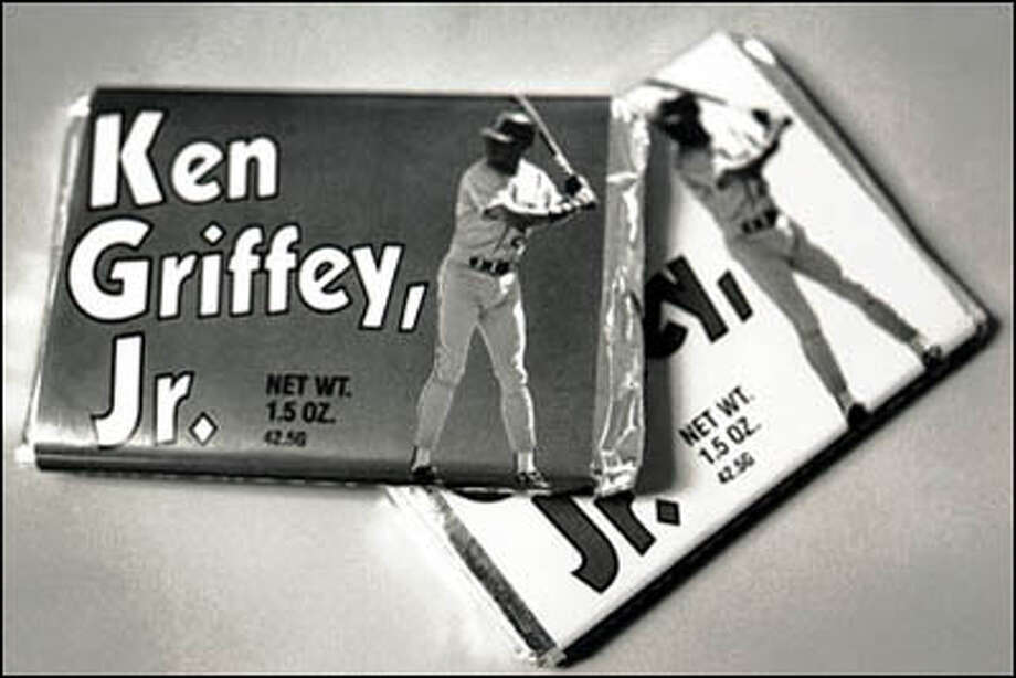 The Ken Griffey Jr. candy bar was solid chocolate and resembled a baseball card. Photo: Seattle Post-Intelligencer
