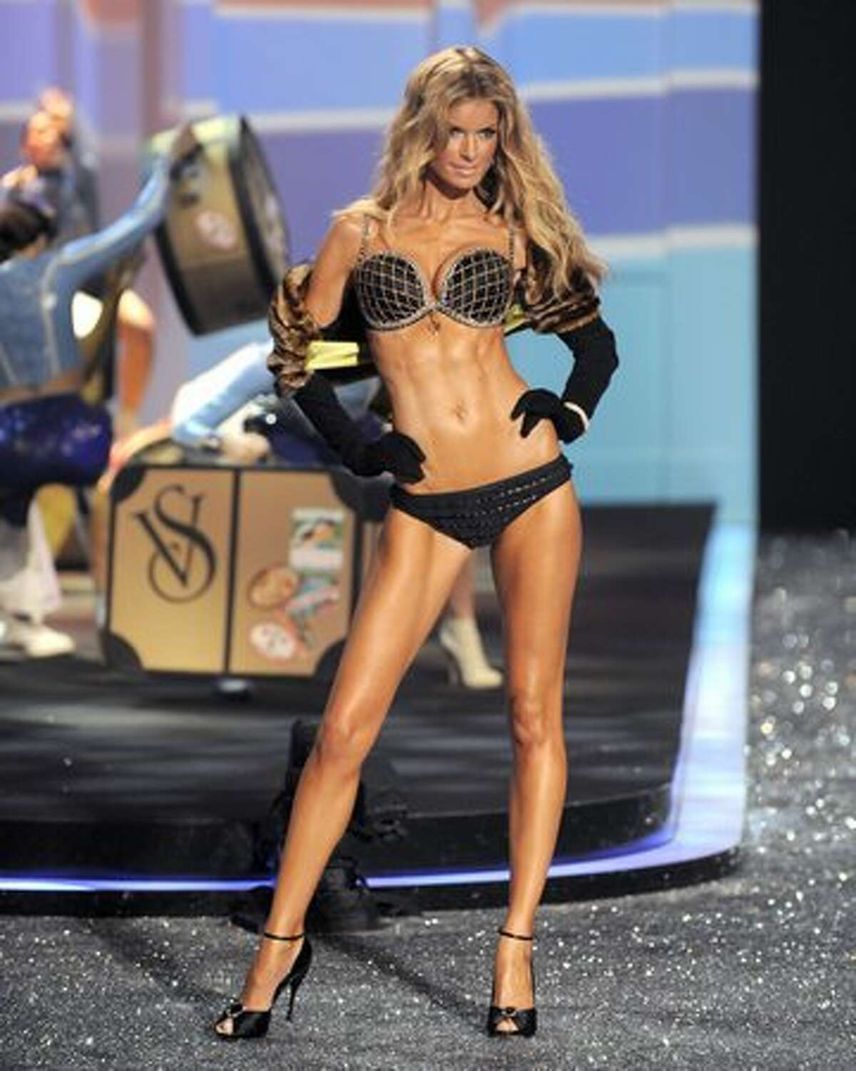 Victoria's Secret model Marisa Miller displays a creation.