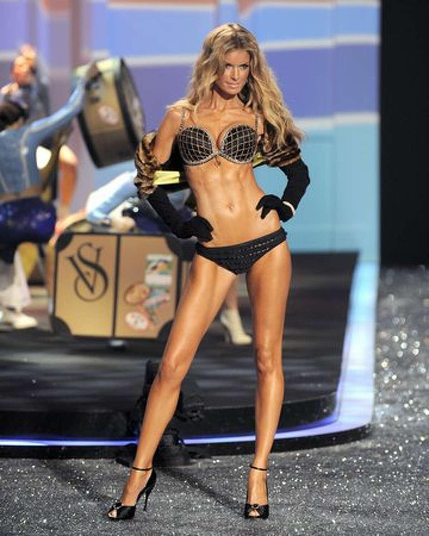 Victoria's Secret model Marisa Miller displays a creation.