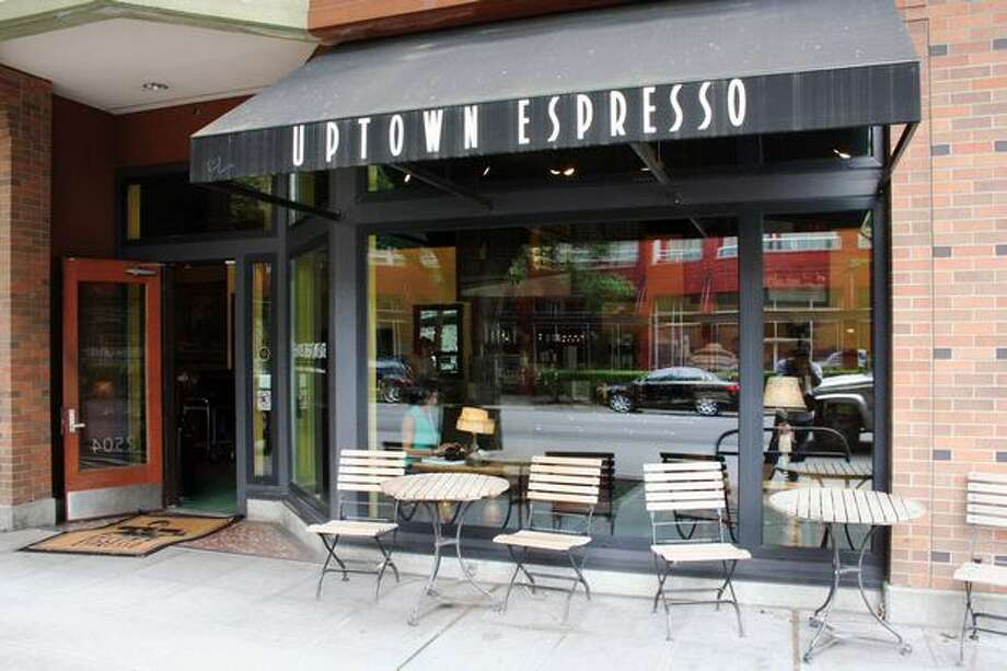 The outside of Uptown Espresso, located at 2504 4th Ave. This cafe brags about it's incredibly fast wifi. So if you are a business wig, you can get work done while sipping on you morning time joe. Photo: William Baldon, Seattlepi.com