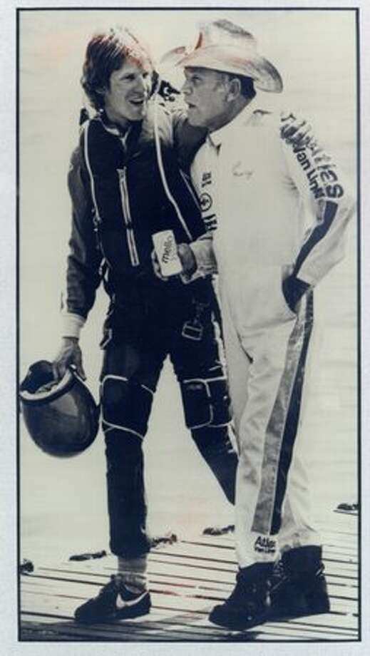 Chip Hanauer, left, and the late Bill Muncey were hydro racing's top drivers until Muncey was killed and Haneaur retired. Photo: P-I File