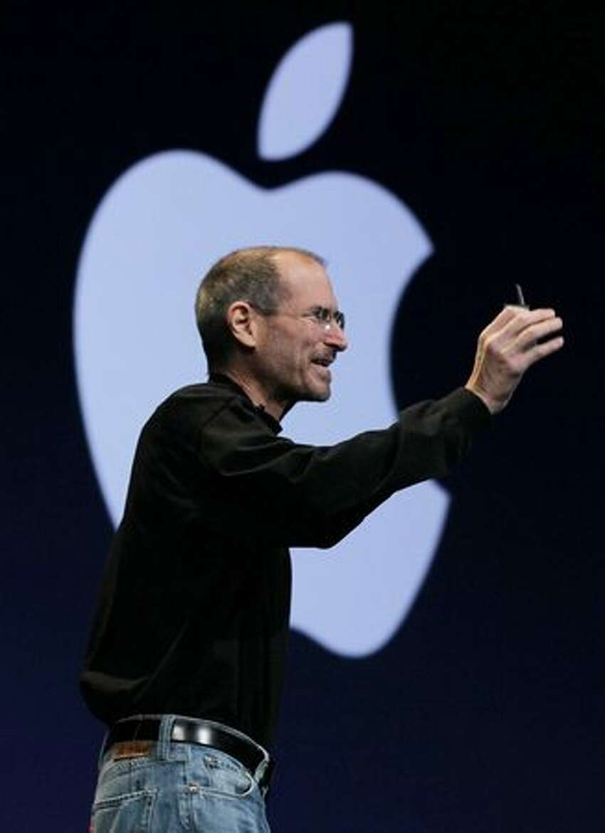 Apple CEO Steve Jobs delivers the opening keynote at the 2010 Apple Worldwide Developers conference June 7, 2010, in San Francisco.