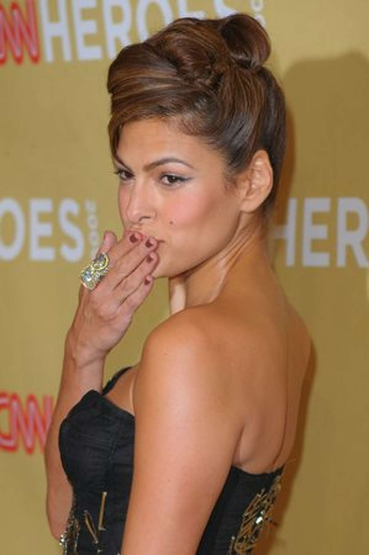 Actress Eva Mendes attends the 2009 CNN Heroes Awards held at The Kodak Theatre on Saturday in Hollywood, California.