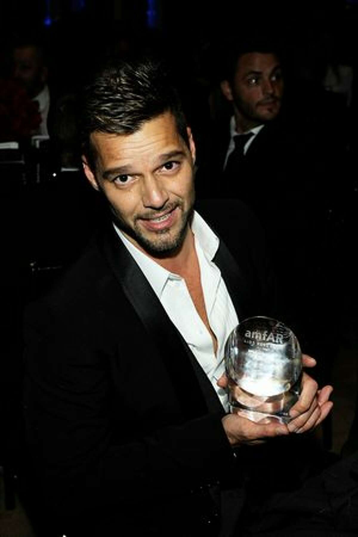 Singer Ricky Martin attends the 2010 amfAR New York Inspiration Gala at The New York Public Library.
