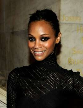 Actress Zoe Saldana attends the 2010 amfAR New York Inspiration Gala at The New York Public Library. Photo: Getty Images