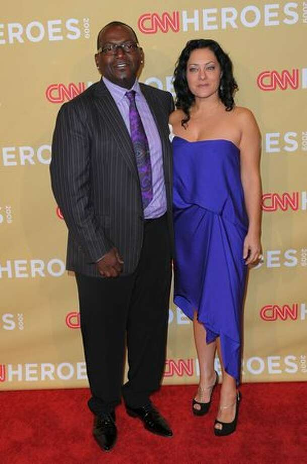 TV personality Randy Jackson and wife Erika Jackson attend the 2009 CNN Heroes Awards held at The Kodak Theatre on Saturday in Hollywood, California. Photo: Getty Images