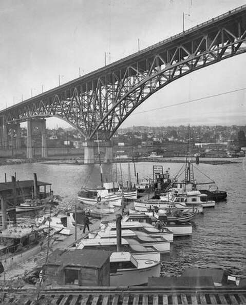 The Aurora Bridge on September 22, 1948. (Photo by Davis/P-I)