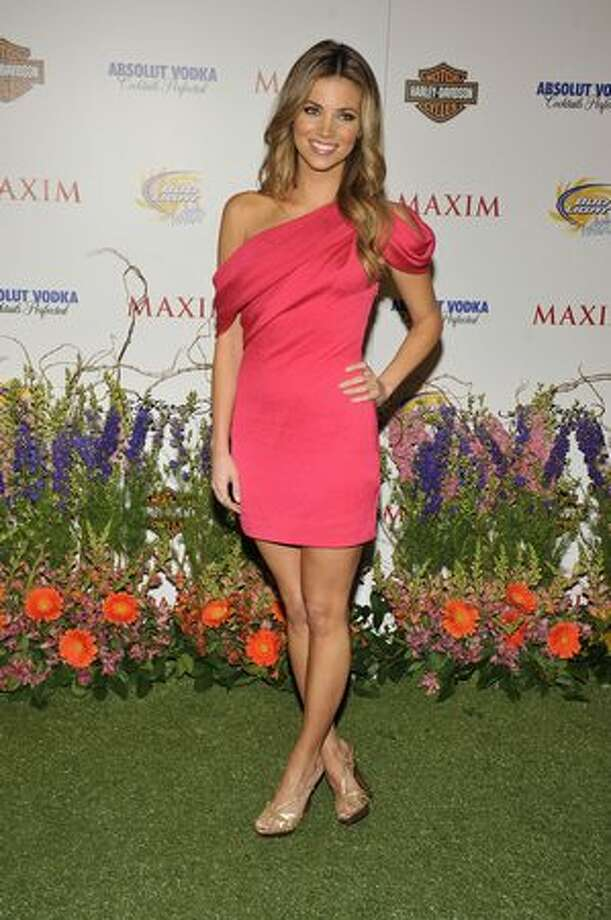 Amber Lancaster poses for a picture at the 11th annual Maxim Hot 100 Party on May 19 in Los Angeles. Photo: Getty Images