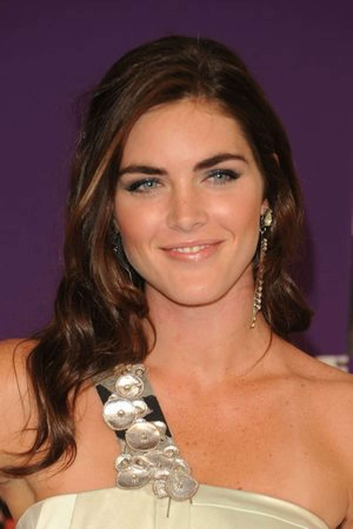 Model Hilary Rhoda attends.