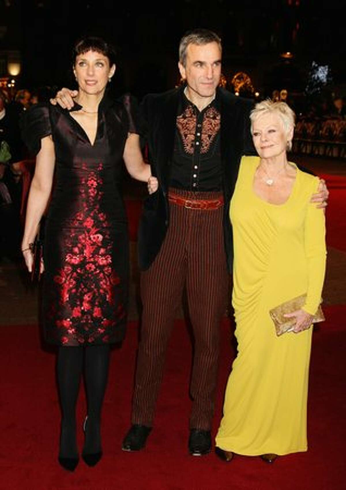 Rebecca Miller, Daniel Day-Lewis and actress Dame Judi Dench attends the World Premiere of 'Nine.'