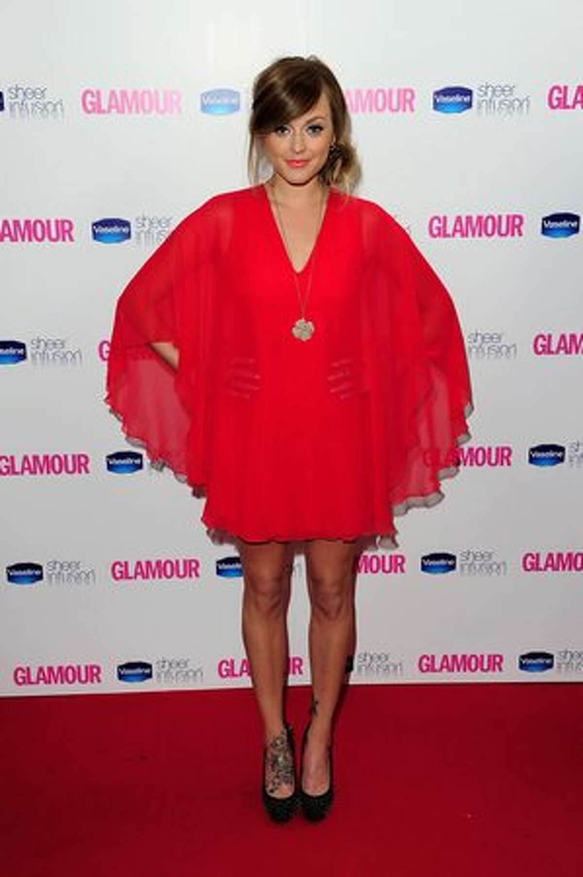 Fearne Cotton arrives at the 2010 Glamour Women of The Year Awards.