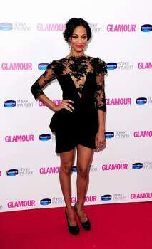 Zoe Saldana arrives at the 2010 Glamour Women of The Year Awards. Photo: Getty Images