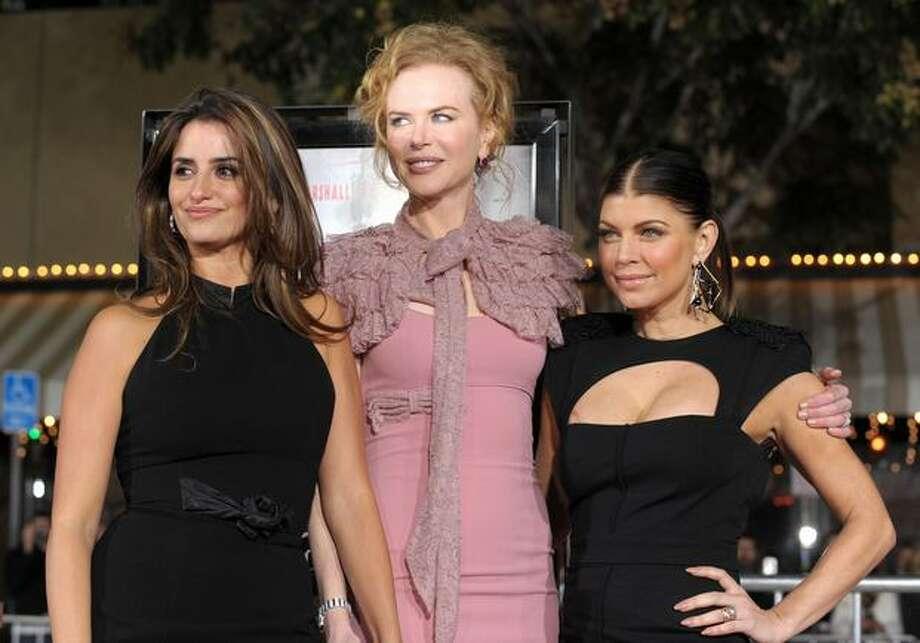 "(L-R) Actresses Penelope Cruz, Nicole Kidman and Stacy ""Fergie"" Ferguson arrive. Photo: Getty Images"