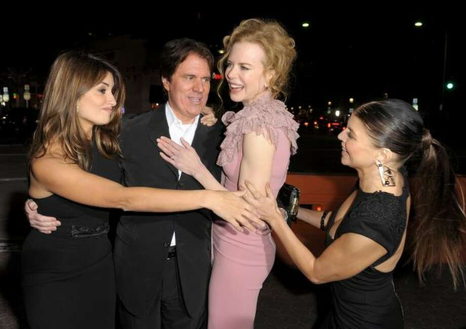 "(L-R) Actress Penelope Cruz, director Rob Marshall, actresses Nicole Kidman and Stacy ""Fergie"" Ferguson arrive. Photo: Getty Images"