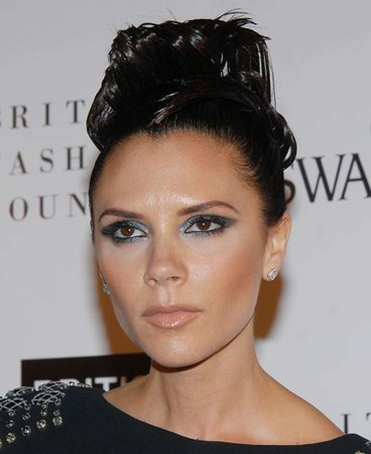Victoria Beckham attends the British Fashion Awards at Royal Courts of Justice, Strand in London, England.
