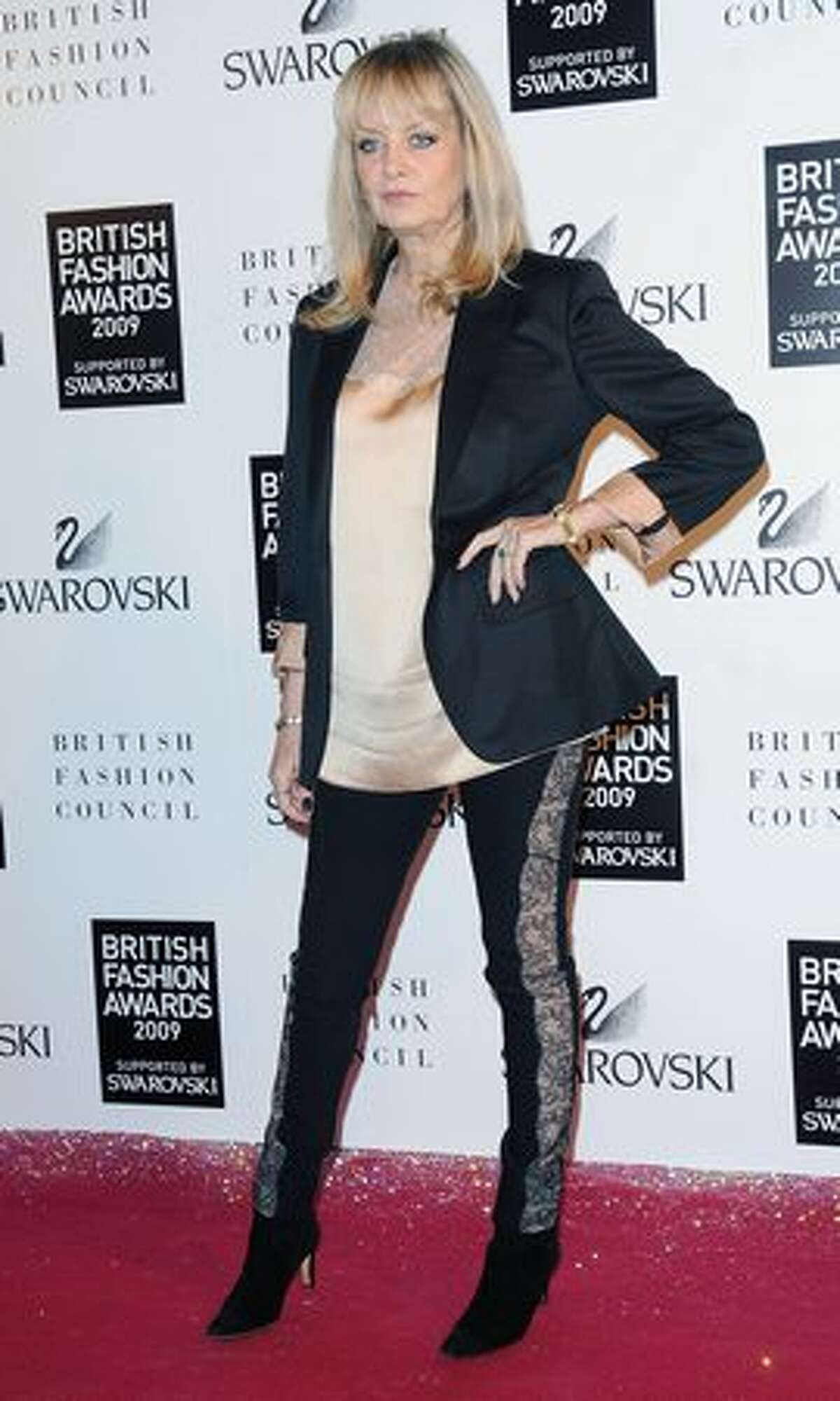 Twiggy attends the British Fashion Awards in London, England.
