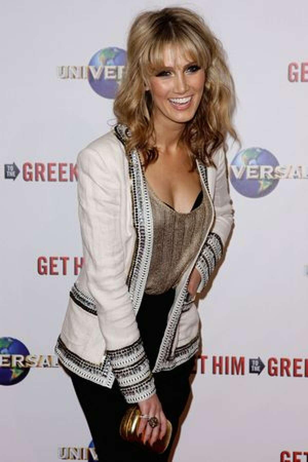 Delta Goodrem arrives at the premiere of