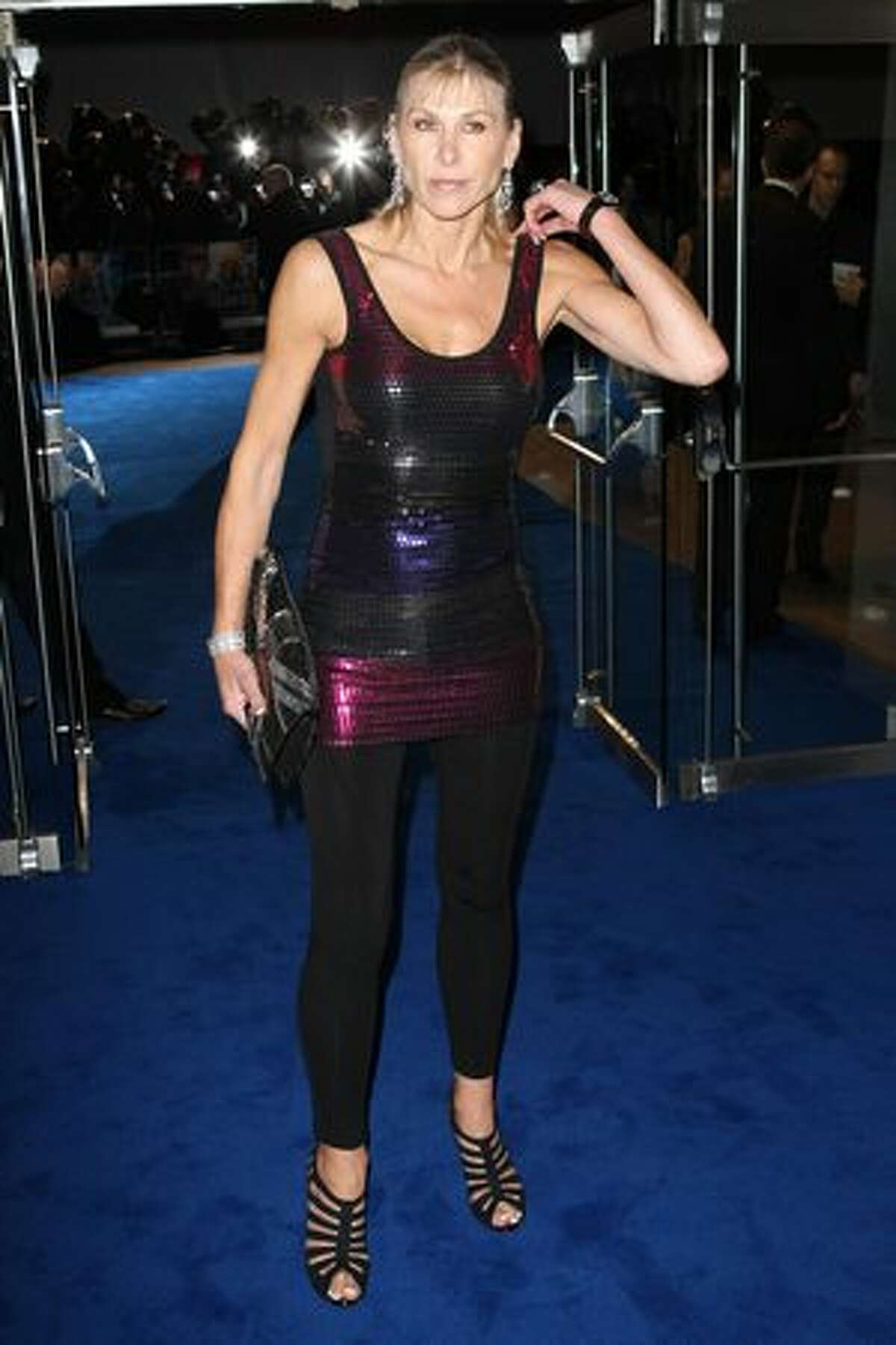 Sharron Davies attends the world premiere of Avatar held at The Odeon Leicester Square in London, England.