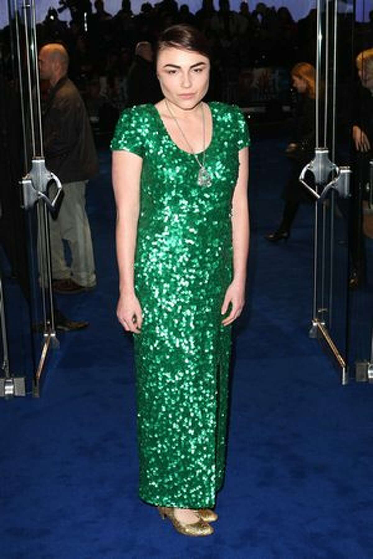 Lois Winstone attends the world premiere of Avatar held at The Odeon Leicester Square in London, England.