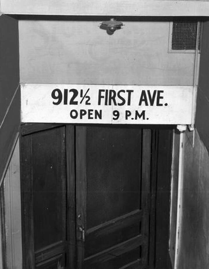The entrance to the Stork Club, a Seattle speakeasy, was nothing but a basement door. Photo: P-I File