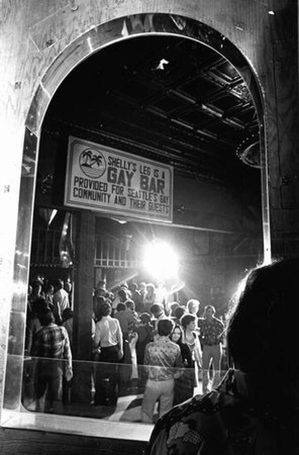 Shelly's leg was a gay bar under the Alaskan Way Viaduct. This photo was taken in 1976. Photo: P-I File