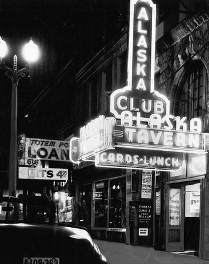 Seattle's Alaska Tavern, 1942. Photo: P-I File