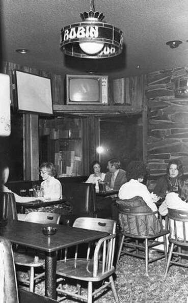 Drinkers at the original Red Robin Tavern, 1973.