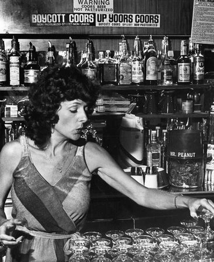 Bartender Arlene Smith at the 5 Point, 1980. Photo: P-I File