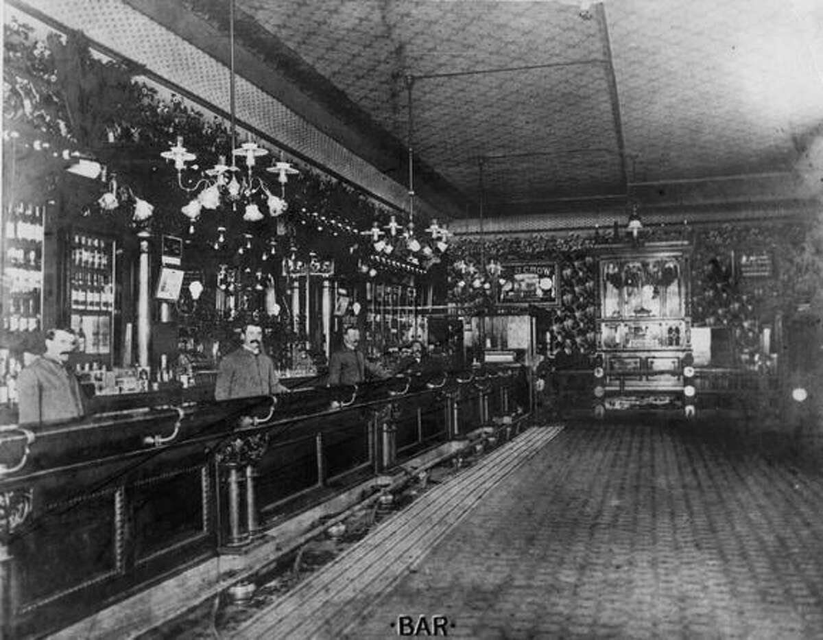 The inside of Our House saloon. Date unknown.