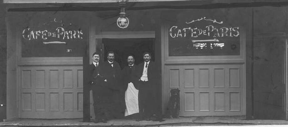 The owner and bartenders of Cafe de Paris in Seattle. Date unknown. Photo: P-I File