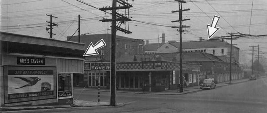 Gus's Tavern, at 23rd and Cherry Street, was 405 away from Horace Mann Grade School in 1946. Photo: P-I File
