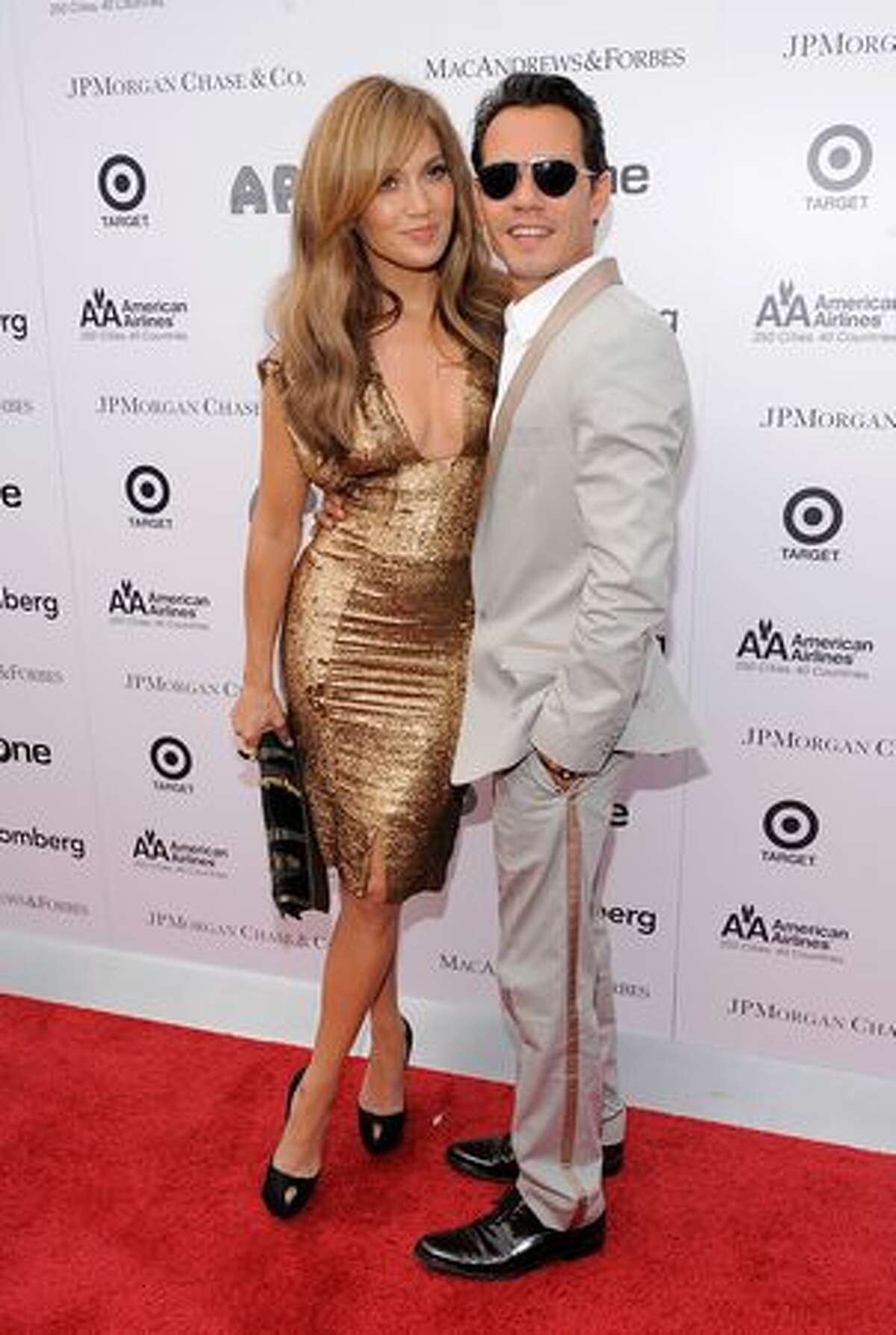 Singer\actress Jennifer Lopez and singer Marc Anthony attend the 2010 Apollo Theater Spring Benefit Concert & Awards Ceremony at The Apollo Theater.