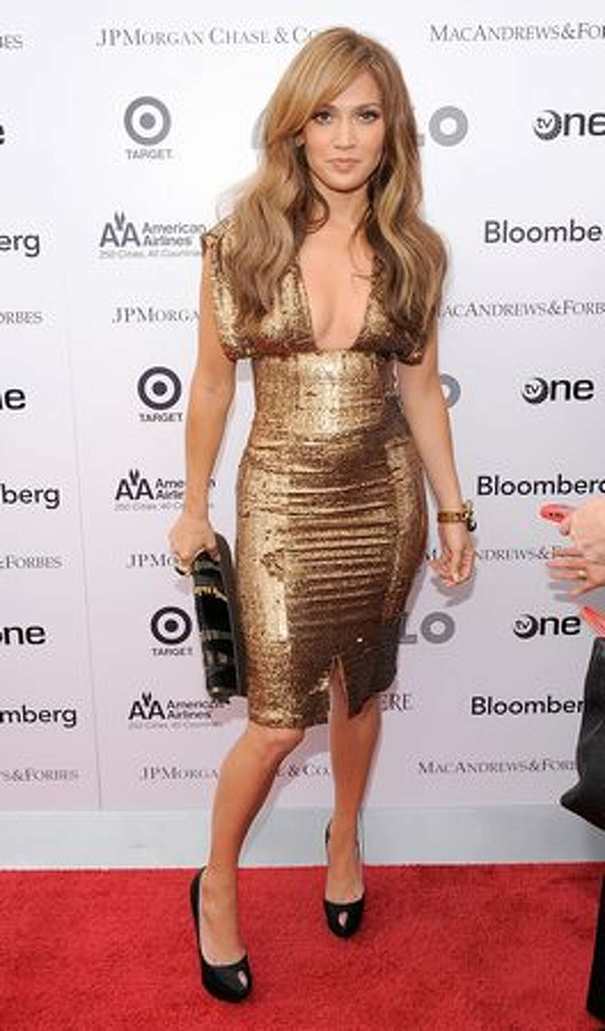 Singer\actress Jennifer Lopez poses for a photo on the red carpet at the 2010 Apollo Theater Spring Benefit Concert & Awards Ceremony at The Apollo Theater.