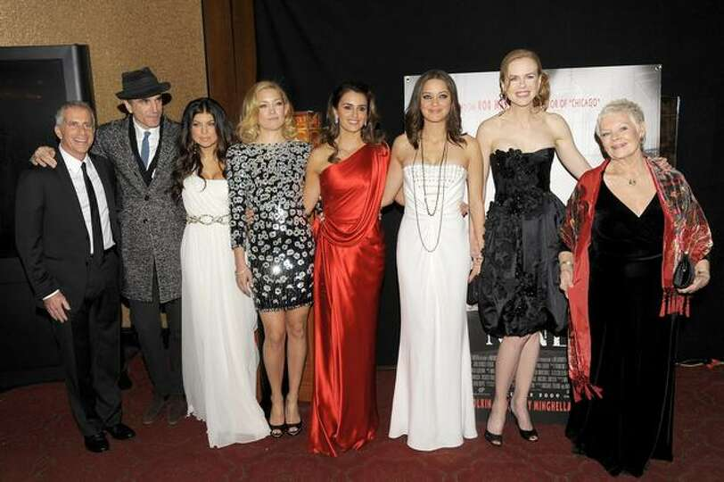 From left, producer Marc Platt, actors Daniel Day-Lewis, Fergie, Kate Hudson, Penelope Cruz, Marion
