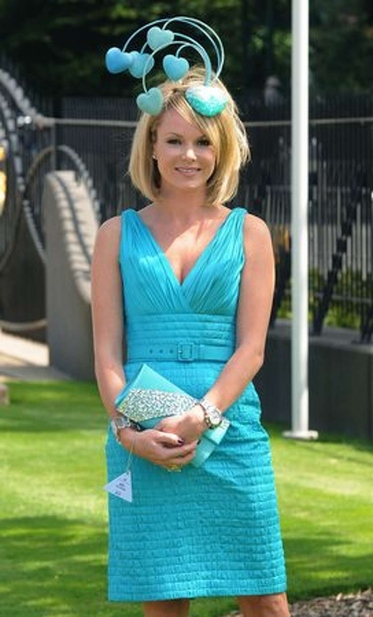 Amanda Holden attends Day One of Royal Ascot in Ascot, England.