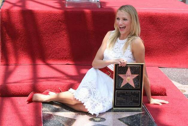Actress Cameron Diaz attends the ceremony honoring her with a star on The Hollywood Walk of Fame on June 22 in Hollywood, Calif. Photo: Getty Images