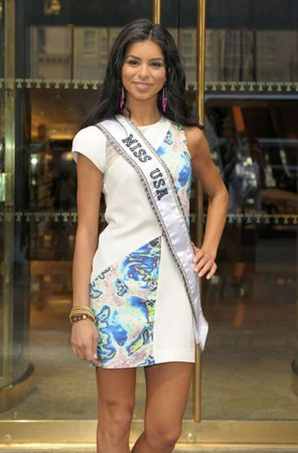 Rima Fakih visits Trump Tower. Photo: Getty Images