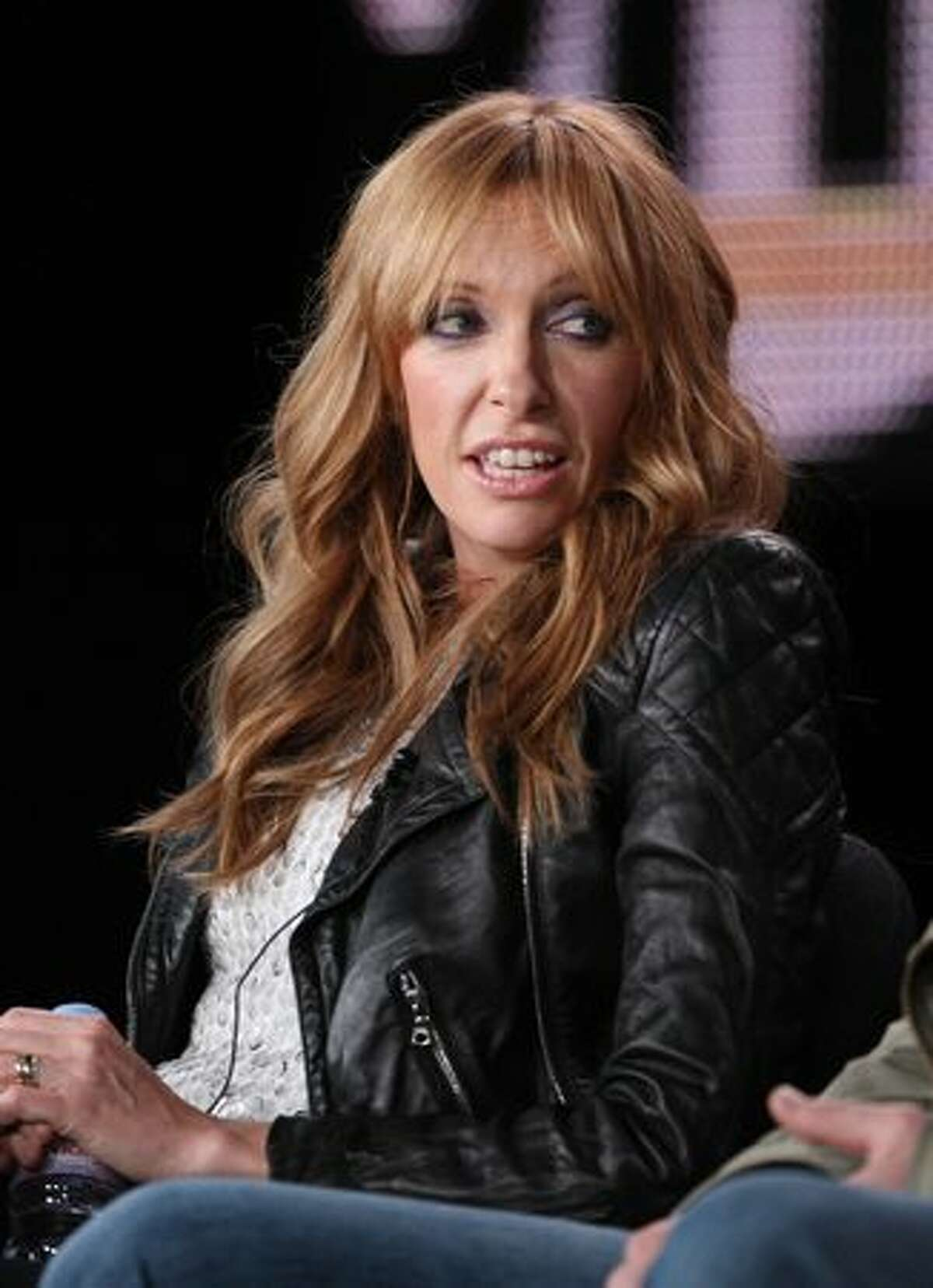 Actress Toni Collette speaks onstage at the Showtime