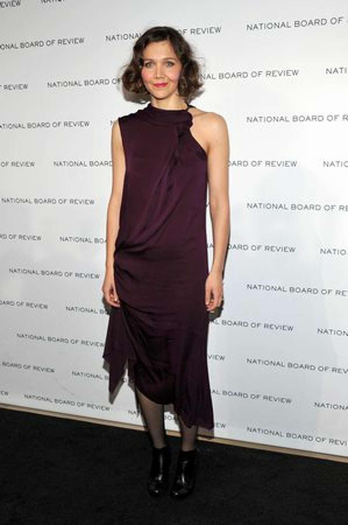 Actress Maggie Gyllenhaal arrives.