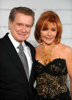 TV personality Regis Philbin and wife Joy Senese arrive. Photo: Getty Images