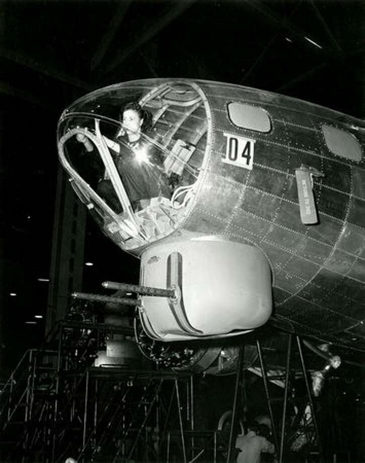 Rosie the Riveter at work at Plant 2, in Seattle. Photo: The Boeing Company
